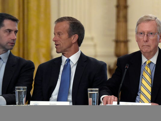 John Thune, Tom Cotton, Mitch McConnell