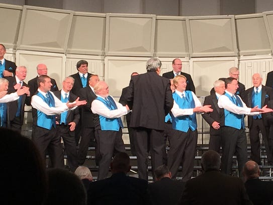 Manitowoc's Clipper City Chordsmen competes in the