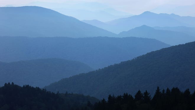 The Cowee Mountain Overlook (MP 430) near the highest point on the Blue Ridge Parkway is a great spot for photographing mountain vistas.