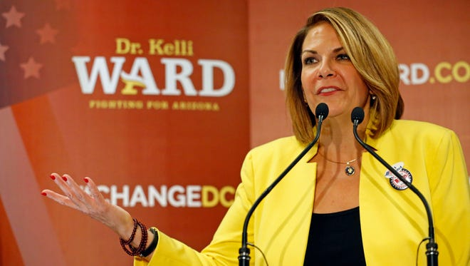 Kelli Ward, the former state senator who came up short this year in her bid to topple Sen. John McCain, announced Wednesday that she is seeking the Senate seat now held by Sen. Jeff Flake, who is up for re-election in 2018.