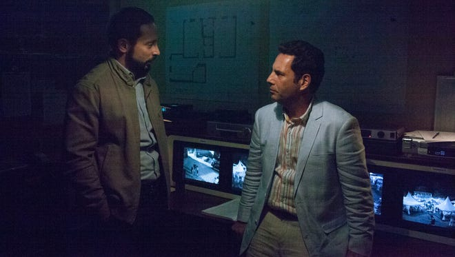 """Matias Varela (left) and Francisco Denis star in """"Narcos,"""" which begins its third season on Netflix."""