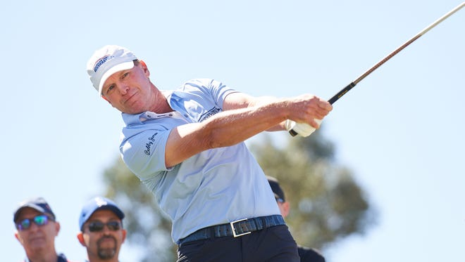 Steve Stricker won his first PGA Champions event on Sunday.