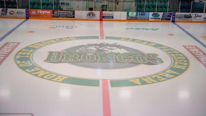 This Saturday, April 7, 2018 photo shows Elgar Petersen Arena, home of the Humboldt Broncos, in Humboldt, Saskatchewan, Canada.