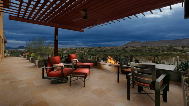 The remodeled patio of Tom and Susan Snook Wednesday, Dec. 3, 2014 in Fountain Hills.