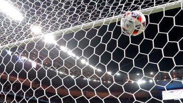 France goalkeeper Hugo Lloris watches the ball hit the net after Portugal's Eder scores the opening goal during the Euro 2016 final soccer match between Portugal and France at the Stade de France in Saint-Denis, north of Paris, Sunday, July 10, 2016. (AP Photo/Martin Meissner)   ORG XMIT: mme101