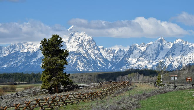 A view of the Teton Mountain Range in Grand Teton National Park in Wyoming on May 11, 2016.