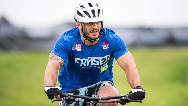 Mat Fraser took second place in the cyclocross event of the CrossFit Games in Madison.