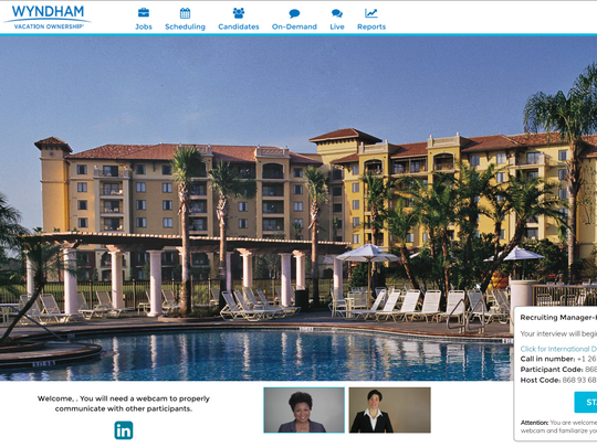 A screenshot of the recruiting portal designed by Montage for Wyndham.