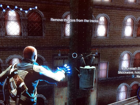 """The hero can wield electricity as a weapon and tool in """"InFamous."""""""