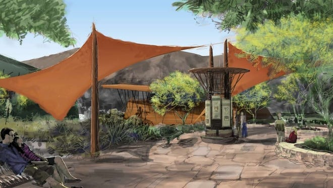 A September 2010 study included conceptual designs for a Desert Discovery Center in Scottsdale, including this image of potential desert pavilions.