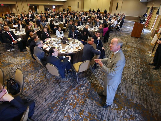 Congressman Rodney Frelinghuysen was the guest speaker during the Morris County Chamber of Commerce Washington Update Breakfast held at the Wyndham Hamilton Park Hotel and Conference Center in Florham Park