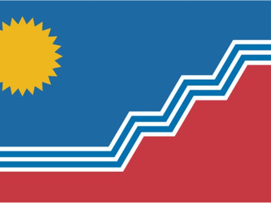 Max Rabkin's design for the Sioux Falls flag from 2014.