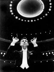 Leonard Bernstein (conducting the New York Philharmonic