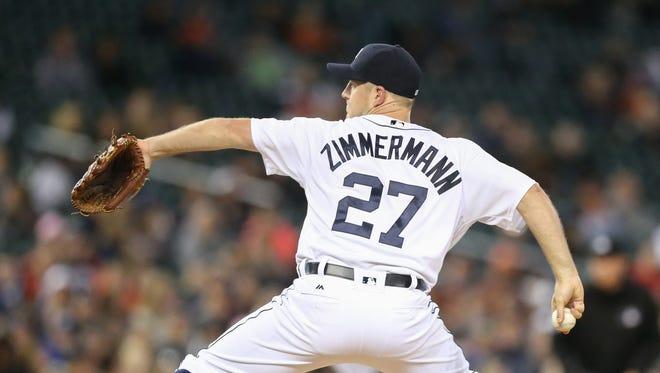 Detroit Tigers' Jordan Zimmermann.