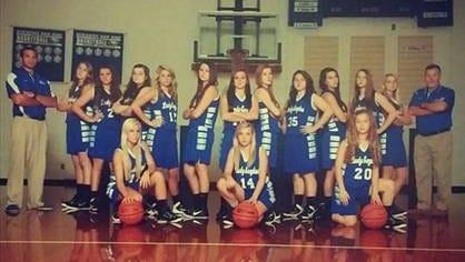 The Hiwassee Dam girls basketball team.