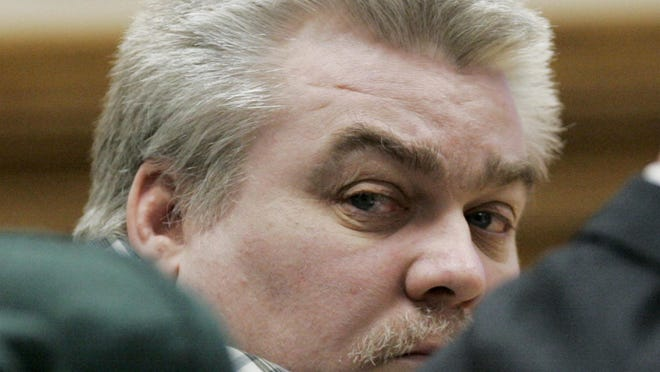 Steven Avery is seen in a Calumet County courtroom during the opening day in his murder trial on Feb. 12, 2007, in Chilton, Wis.
