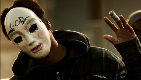 "Here's a lovely mask seen in ""The Purge"" sequel ""The"