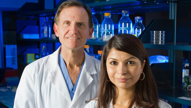 Director of the Multidisciplinary Head and Neck Oncology Clinic at the Graham Cancer Center Robert Witt, M.D., FACS, and Senior Research Scientist and Director of Tissue Engineering Swati Pradhan-Bhatt, Ph.D., are working to develop artificial salivary glands to help patients whose glands have been damaged by radiation treatment for throat cancer.