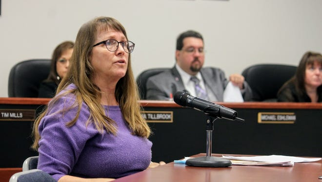 Jane Childress, archaeologist with the Bureau of Land Management (BLM) made a presentation  on the West-wide energy corridors on public and National Forest System lands at Thursday's Otero County Commission meeting.