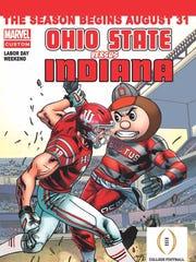 IU-Ohio State got the comic book treatment.