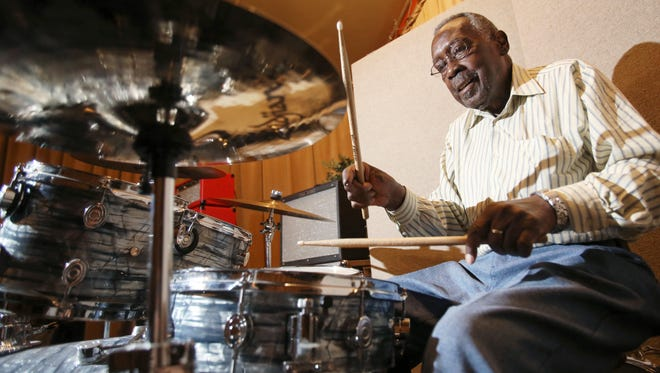Legendary James Brown drummer Clyde Stubblefield, seen here in 2015, has died.