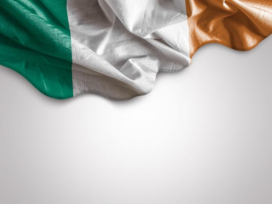 Waving flag of Ireland
