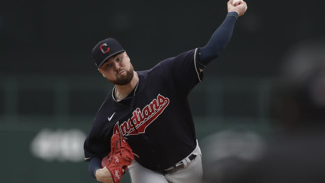 Starting pitcher Logan Allen lost weight and committed to analytics in an effort to bolster his shot of making Cleveland's Opening Day roster. [Associated Press]