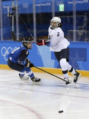 Venla Hovi (9) of Finland and Farmington Hills' Megan