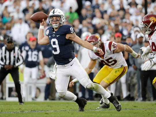 Trace McSorley, seen here in a file photo, has a 22-5 career record as Penn State's starting quarterback. AP FILE PHOTO
