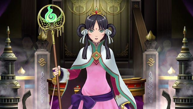 "Royal priestess Rayfa Padma Khura'in is one of the new characters in ""Phoenix Wright Ace Attorney"" Spirit of Justice"" for the Nintendo 3DS."