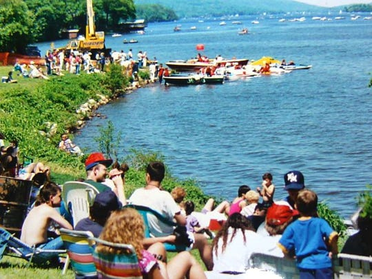 Powerboat races bring crowds to Greenwood Lake – as this nostalgic photo in 1994 shows.