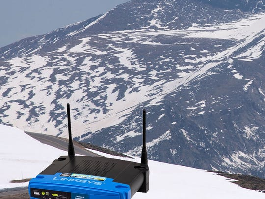 Your Wi-Fi router works best if it's out in the open. But probably not this out in the open
