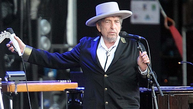Bob Dylan in France in July 2012.