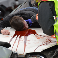 Mock crash staged at Greenfield High School teaches grim lesson