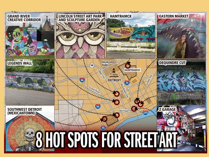 8 hot spots for Detroit street art