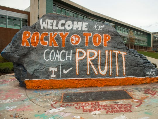 The Rock, painted by University of Tennessee sophomore