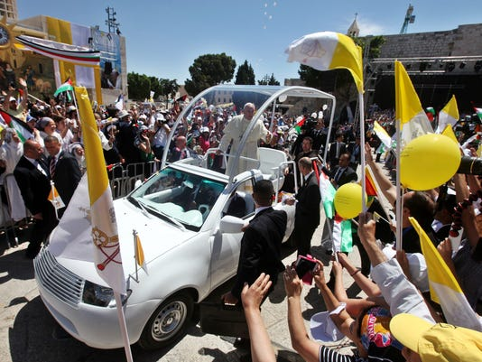 EPA epaselect MIDEAST WEST BANK POPE FRANCIS VISIT