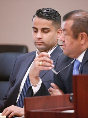 David Zavala is on trial for aggravated assault in the 120th District Court.