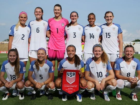 Courtney Petersen (first row, far right) and her teammates