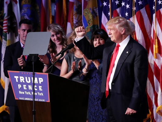 Republican Presidential Nominee Donald Trump Holds Election Night Event In New York City