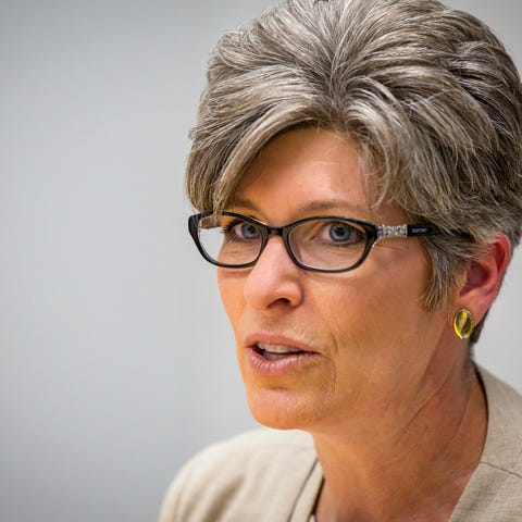 Sen. Joni Ernst met for a live interview...