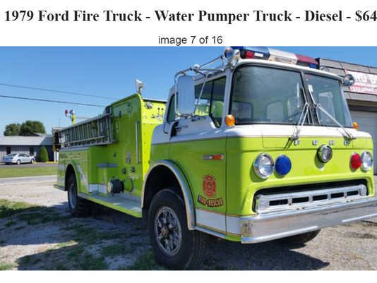 want to buy a firetruck well this is your chance