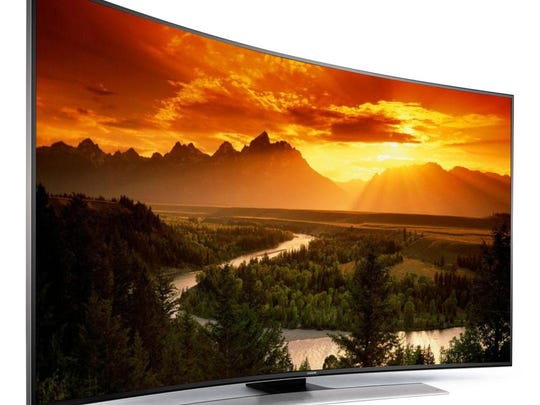 Samsung said it now doesn't matter where you sit in the room when watching one of these new curved televisions.