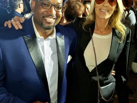 "Marlowe Stoudamire, director of Detroit Historical Museum's ""Detroit 67: Perspectives"" exhibit, with ""Detroit"" director Kathryn Bigelow."