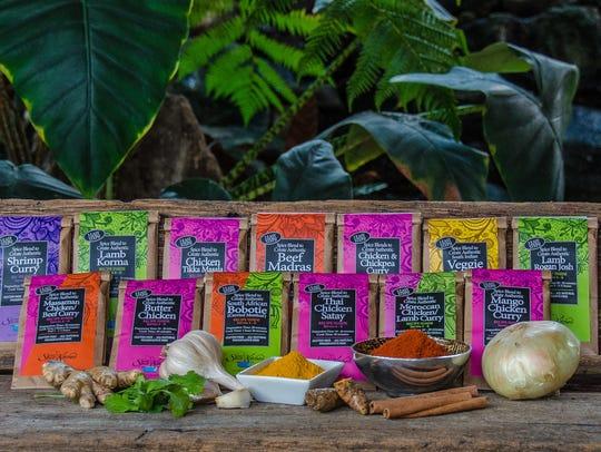 Karen's Spice Kitchen spice blend packets.