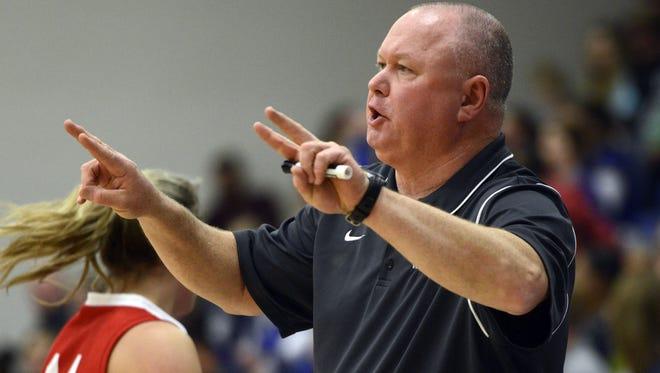 Erwin girls basketball coach Terry Gossett.