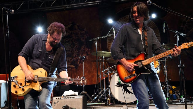 Mike Cooley (right) and Patterson Hood, co-founders of Drive-By Truckers, will bring the band to Wilmington's World Cafe Live at the Queen on Thursday, April 20.