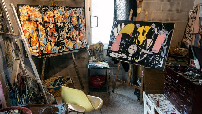 The studio of artist Margaret Archambault is up and running as the rest of the new Tim Faulkner Gallery nears completion in Smoketown. 7/6/18