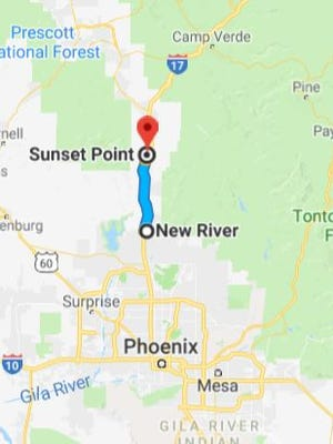 Speed limits will be reduced by 10 mph on Interstate 17 between New River and Sunset Point during peak travel times the weekend of Memorial Day 2018.