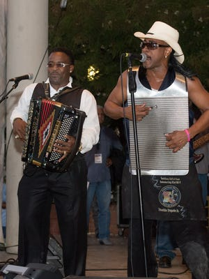 Lafayette natives Anthony, left, and David Rubin travel the world as Rockin' Dopsie Jr. and the Zydeco Twisters. Lafayette natives Anthony, left, and David Rubin travel the world as Rockin' Dopsie Jr. and the Zydeco Twisters.
